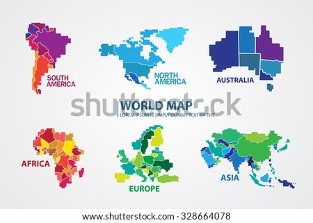 North America Map Stock Images RoyaltyFree Images Vectors - America world map