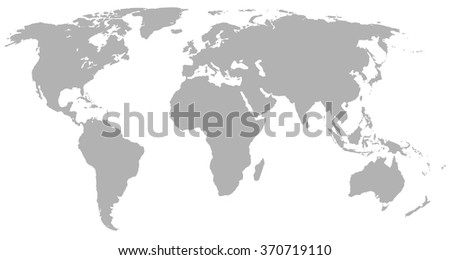 Gray map flat globe world vectores en stock 394104100 shutterstock world map gumiabroncs Image collections