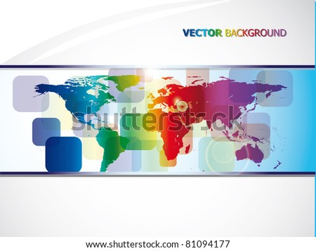 world map abstract background