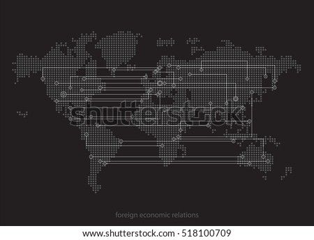 World map abstract concept social network stock vector 518100709 world map abstract concept social network foreign economic relations target selection digital gumiabroncs Images