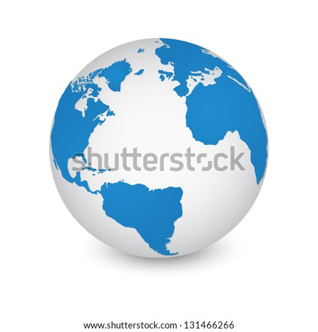 World map globe detail vector illustration stock photo photo world map and globe detail vector illustration eps 10 gumiabroncs Gallery