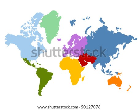 World map and globes - stock vector