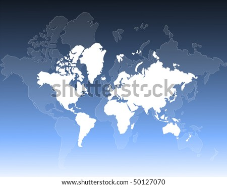 World map and globes background