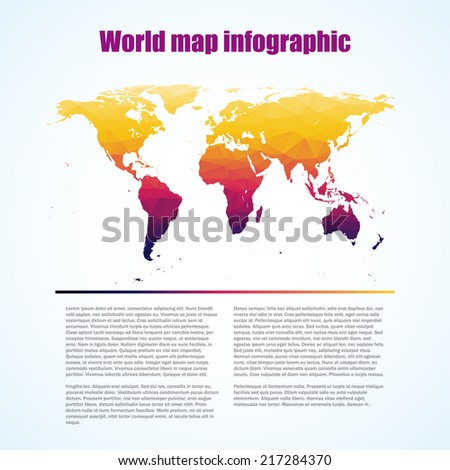 World Map and typography - stock vector