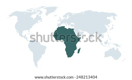 world map background - stock vector