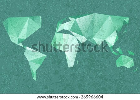 Origami world map vector stock vector 603761708 shutterstock world map background gumiabroncs Gallery