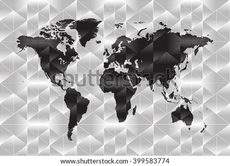 Drawing world map vector graphics stock vector 249788590 world map background in polygonal style vector gumiabroncs Gallery