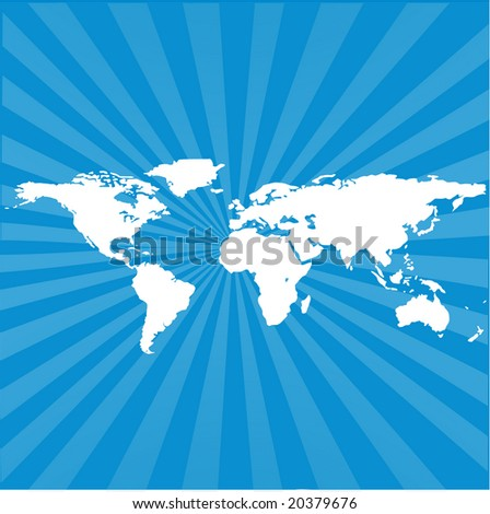world map background with sunburst effect
