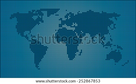 World map black blue dots eps stock vector 2018 252867853 world map black blue dots eps 10 gumiabroncs Choice Image