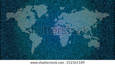 World map blue dots eps 10 stock vector 2018 252361189 shutterstock world map blue dots eps 10 gumiabroncs Choice Image