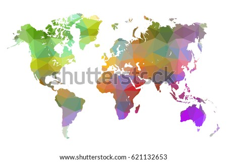 World map colorful low poly vector vectores en stock 621132653 world map colorful low poly vector illustration eps 10 gumiabroncs Gallery
