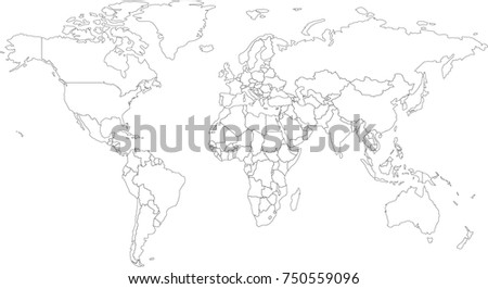 World map coloring book outlines vectores en stock 750559096 world map coloring book outlines gumiabroncs Image collections