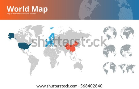 World map concept web design background stock vector hd royalty world map concept for web design background web banner printed material vector gumiabroncs Choice Image