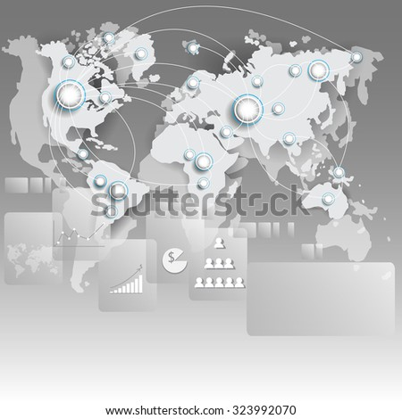 World map connection. Business concept