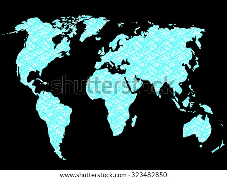 World map connection network. Internet technology, design earth communication, vector art design abstract unusual fashion illustration