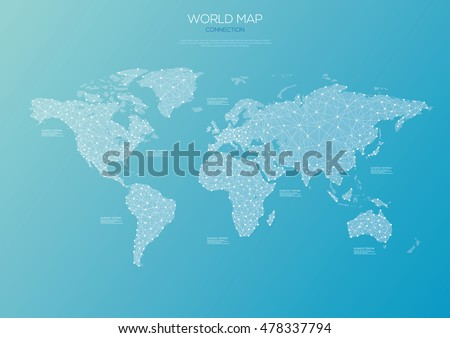 World map connection theme. Vector illustration