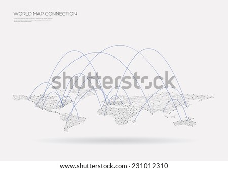 World map connection. Vector illustration - stock vector
