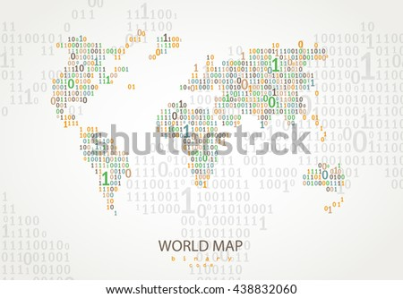 World map consist binary code vector vectores en stock 438832060 world map consist of binary code vector background for your presentation poster website gumiabroncs Image collections