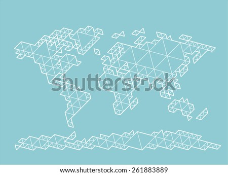 World map consisting triangles eps8 rgb stock vector 261883889 world map consisting of triangles eps8 rgb organized by layers global colors gumiabroncs Gallery