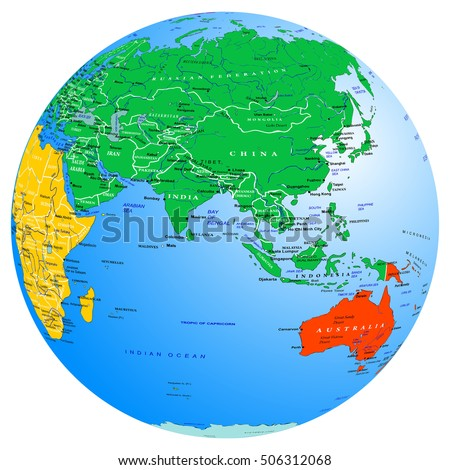 Indian ocean map stock images royalty free images vectors world map continents and countries globe planet earth eastern hemisphere asia indian gumiabroncs Choice Image