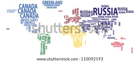 World map continents vector stock vector 110092193 shutterstock world map continents vector gumiabroncs Images