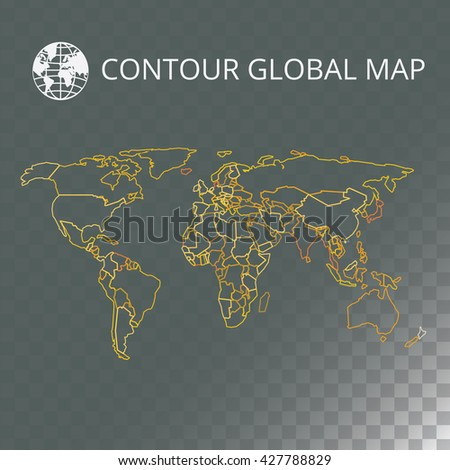 World map contour vector illustration transparent stock vector world map contour vector illustration with transparent background high quality image in the style gumiabroncs Gallery
