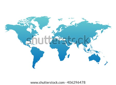 World map countries colorful. Vector illustration. - stock vector