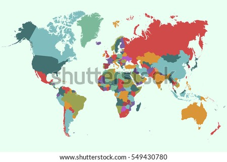 Vector world map country capital vectores en stock 582072028 world map countries vector on green background gumiabroncs Image collections