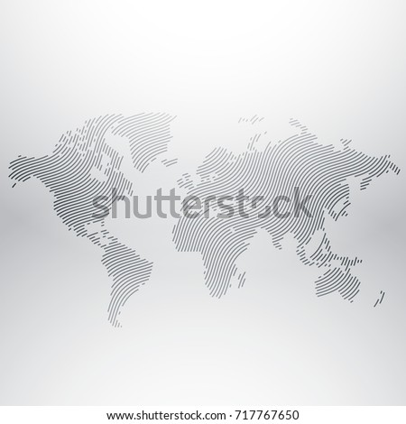 World map design creative wavy pattern vectores en stock 717767650 world map design in creative wavy pattern gumiabroncs Images