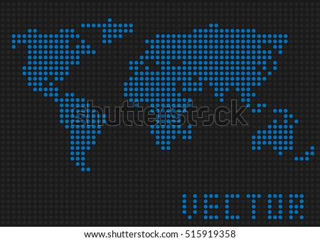 World map pixel imgenes pagas y sin cargo y vectores en stock world map dots blue pixels earth vector illustration gumiabroncs Image collections