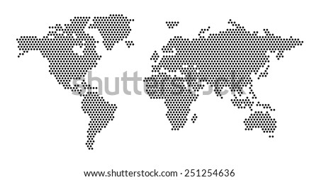 World map dots eps 10 stock vector 2018 251254636 shutterstock world map dots eps 10 publicscrutiny Gallery