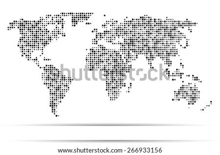 World map dots random size black vectores en stock 266933156 world map dots random size black gumiabroncs Images