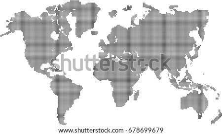 World map dots vector background stock vector 678699679 shutterstock world map dots vector background gumiabroncs Choice Image