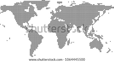World map dots vector illustration background stock photo photo world map dots vector illustration background dotted map of world creative pixel art map gumiabroncs Image collections