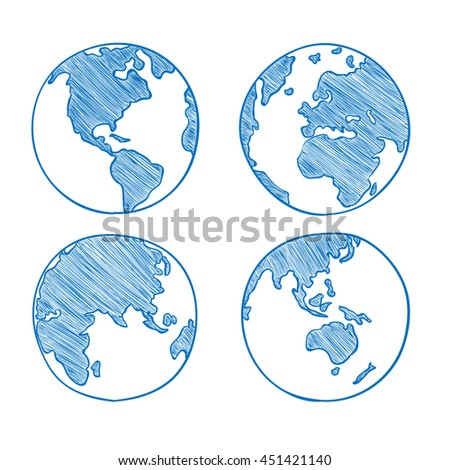 World map drawn set vector illustration stock vector royalty free world map drawn set vector illustration gumiabroncs Image collections