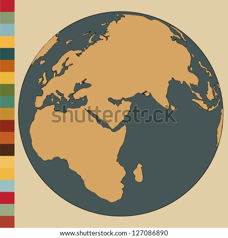World Map Earth Globe Vector Illustrator, EPS 10. - stock vector