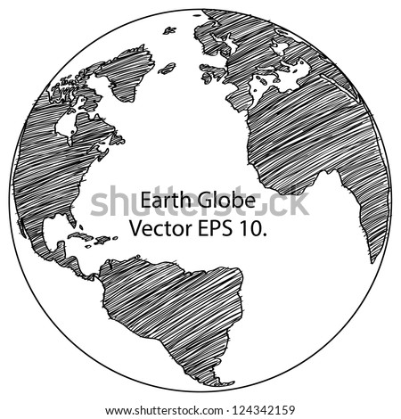 World map earth globe vector line stock vector royalty free world map earth globe vector line sketched up illustrator eps 10 gumiabroncs Gallery