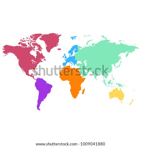 World map europe asia america africa vectores en stock 1009041880 world map europe asia america africa australia gumiabroncs Image collections