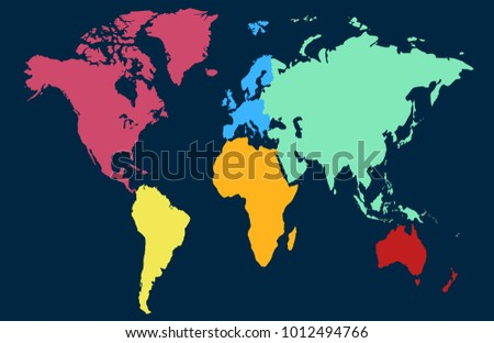 World map europe asia america africa stock vector 1012494766 world map europe asia america africa australia gumiabroncs Images