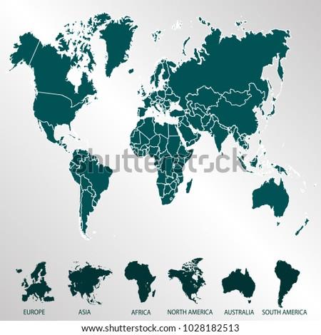World map europe asia america africa stock photo photo vector world map europe asia america africa australia gumiabroncs Gallery