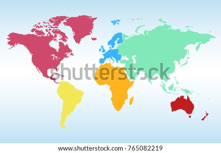 World map europe asia america africa vectores en stock 765082219 world map europe asia america africa australia gumiabroncs Image collections
