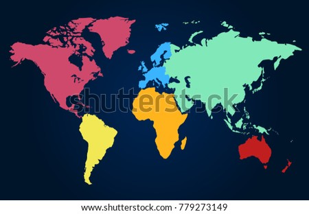 World map europe asia america africa vectores en stock 779273149 world map europe asia america africa australia gumiabroncs Image collections