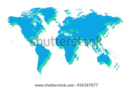 Flat Globe Stock Images RoyaltyFree Images Vectors Shutterstock - Flat globe map