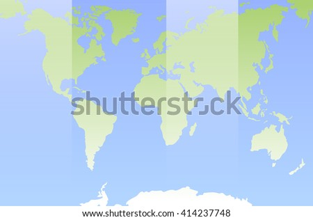 World map. Flat design world map. Vector flat world map. Template infographic world map. Simple world map. Blue oceans world map. Green continent world map. Best vector world map