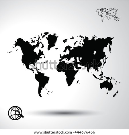 World map flat icon illustration stock vector 444676456 shutterstock world map flat icon illustration gumiabroncs Images
