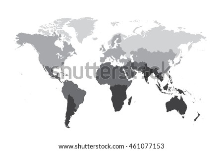 World map flat vector gray color stock vector 461077153 shutterstock world map flat vector gray color gumiabroncs Gallery