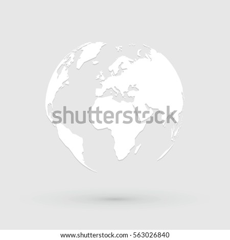 World map globe icon stock vector 563026840 shutterstock world map globe icon gumiabroncs Gallery