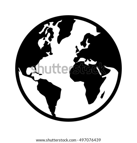World map globe planet earth world stock vector 497076439 shutterstock world map globe or planet earth world map line art icon for apps and websites gumiabroncs Image collections