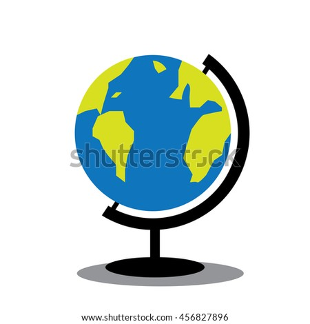 World map globe toy standvector stock vector 456827896 shutterstock world map globe toy with stand vector gumiabroncs Image collections