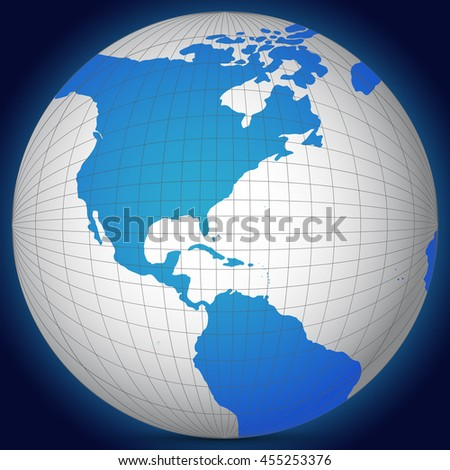 World map globe shadow on blue stock vector 455253376 shutterstock world map globe with shadow on a blue background gumiabroncs Image collections
